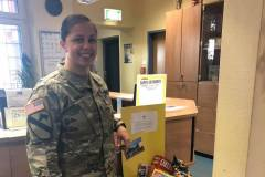 Military member with donations received
