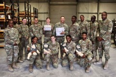 Military members with items received