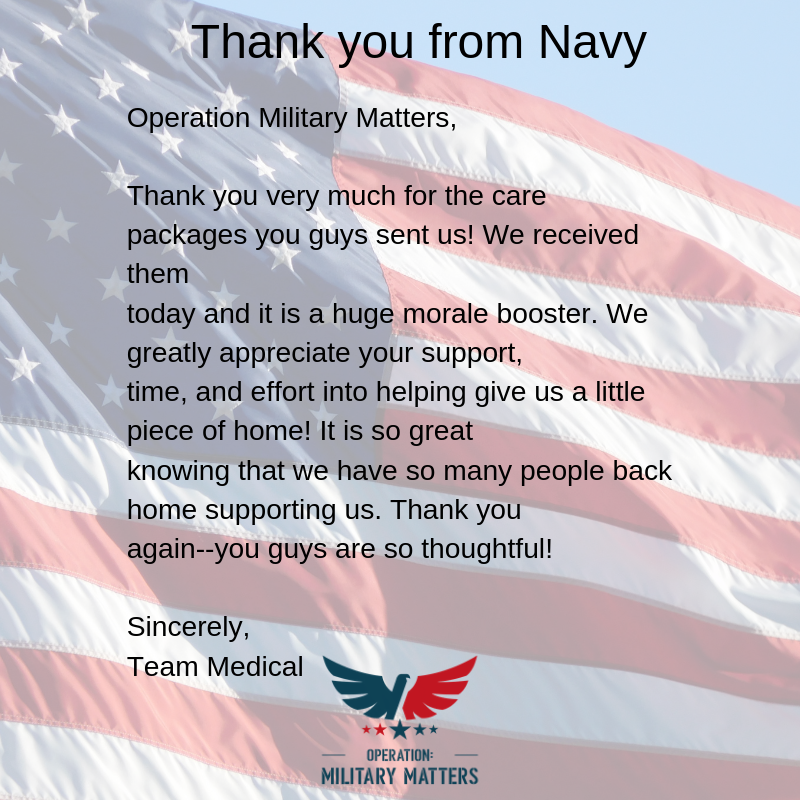 Letter from Navy