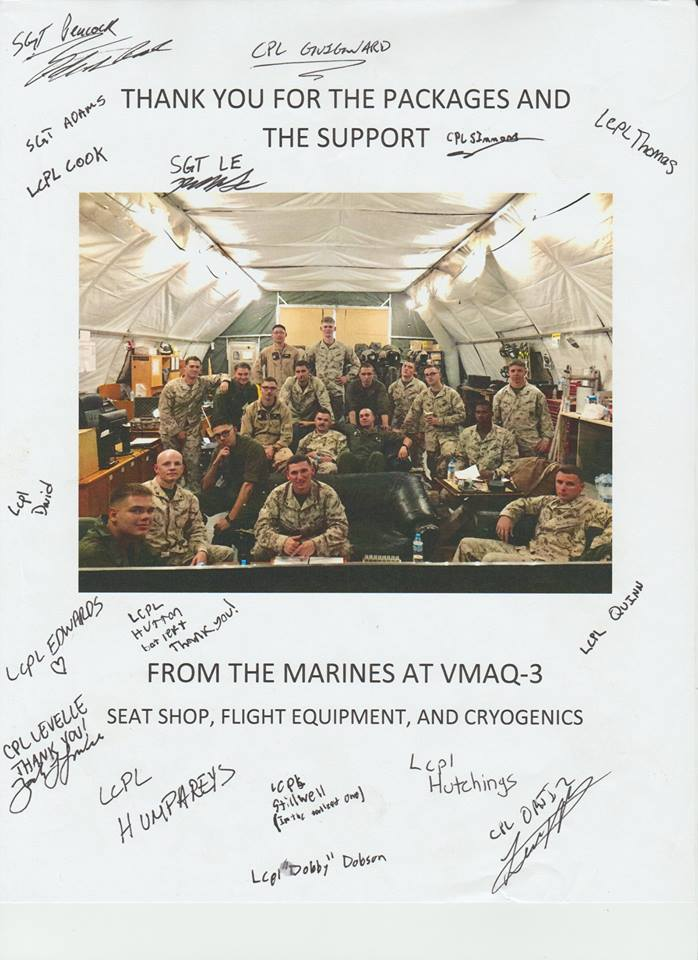 Letter from marines OMM