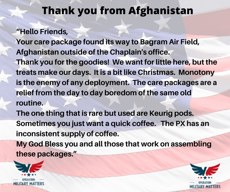 thank you from afghanistan
